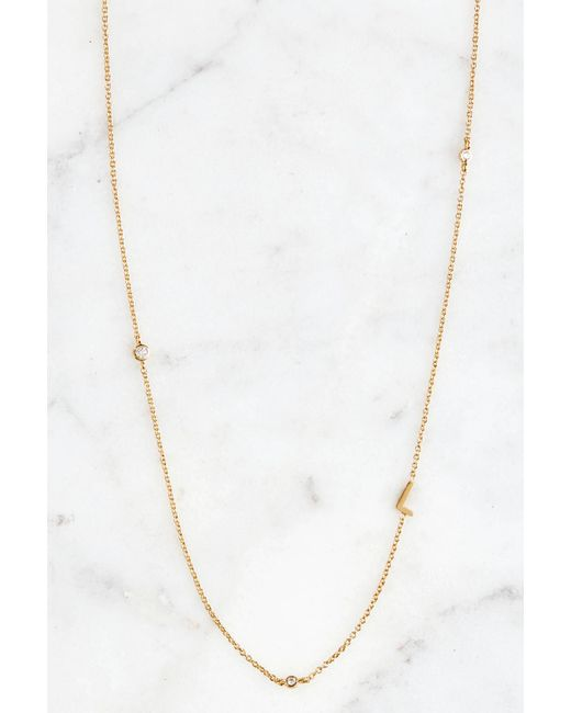 Tai | Metallic Gold Alphabet Necklace L | Lyst