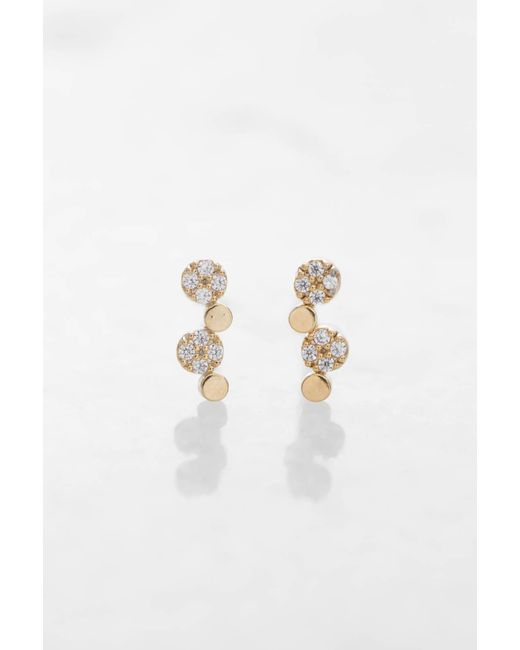 Tai - Metallic Gold Dot Earrings - Lyst