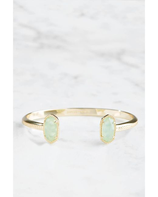 South Moon Under - Green Chalcedony Glass Elton Bracelet - Lyst