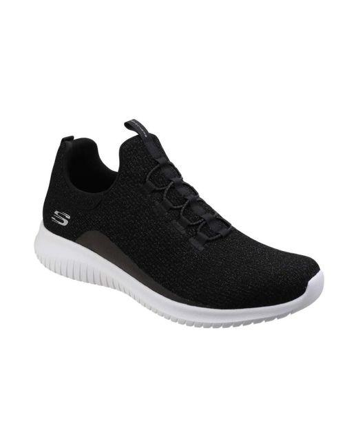 0bb3a64c33d Skechers - Ultra Flex Womens Sports Shoes Women s Shoes (trainers) In Black  - Lyst ...