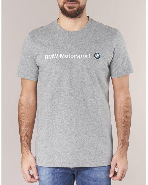 632042f2 ... PUMA - Gray Bmw Msp Logo Tee T Shirt for Men - Lyst ...