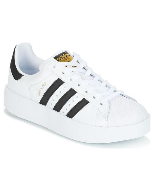 Adidas Superstar femme (una Plateforme) zapatos de mujer (formadores)