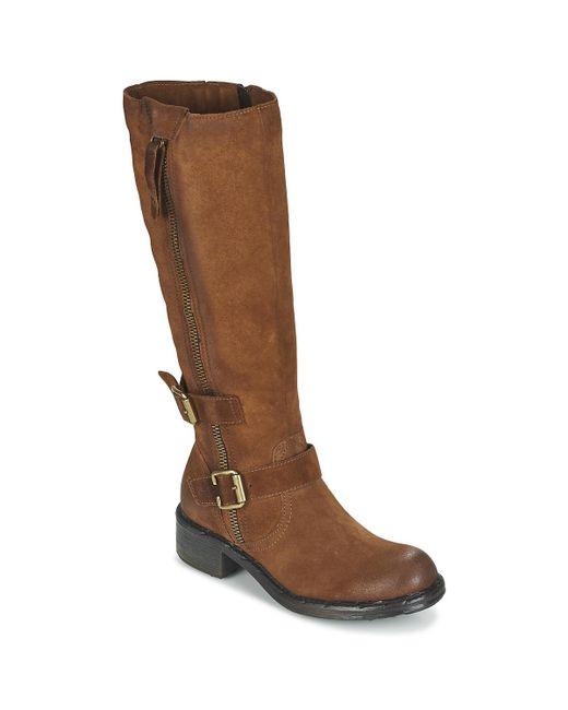 Dream in Green - Razine Women's High Boots In Brown - Lyst