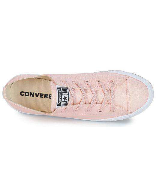563d69c7da8a85 ... Lyst Converse - Pink All Star Dainty Ox Women s Shoes (trainers) In  Multicolour ...
