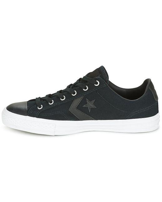 82dd2859efedcf ... Converse - Star Player Canvas With Gum Ox Black black white Men s Shoes  ...