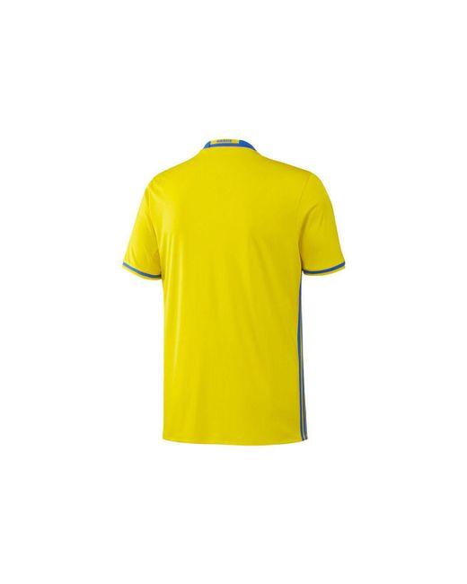 2016 2017 Schweden Home Adidas Shirt (Ibrahimovic 10)