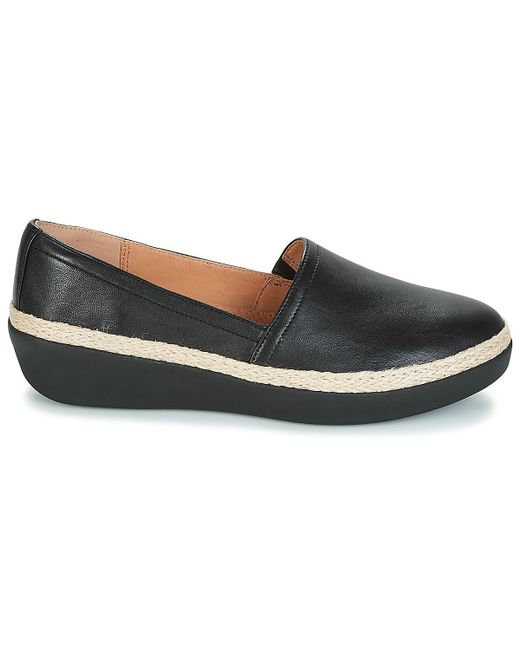 255ea9c77414e3 ... Fitflop - Black Casa Loafers Shoes (pumps   Ballerinas) - Lyst ...