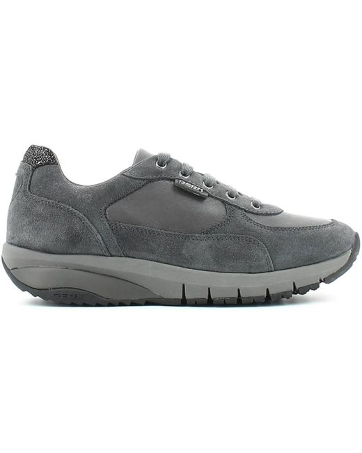 Geox   Gray D5215a 022kf Shoes With Laces Women Anthracite Women's Walking Boots In Grey   Lyst