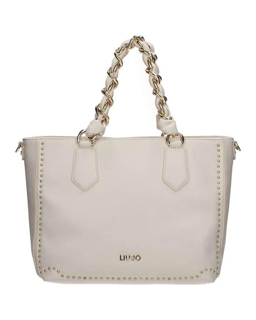 Lyst - Liu jo A18020e0010 Shopping Bag Women s Shopper Bag In White ... 854ab38f70a