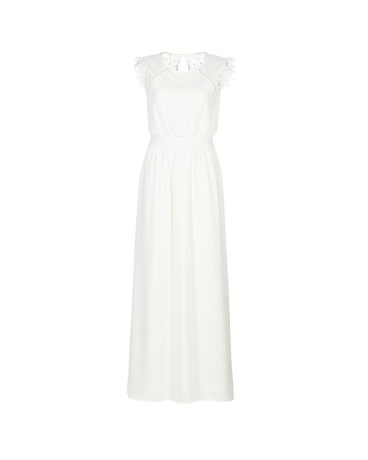 Betty London - Iloveyou Women's Long Dress In White - Lyst