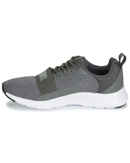 15ebcc65b62c PUMA Jr Wired Knit.grey Women s Shoes (trainers) In Black in Black ...