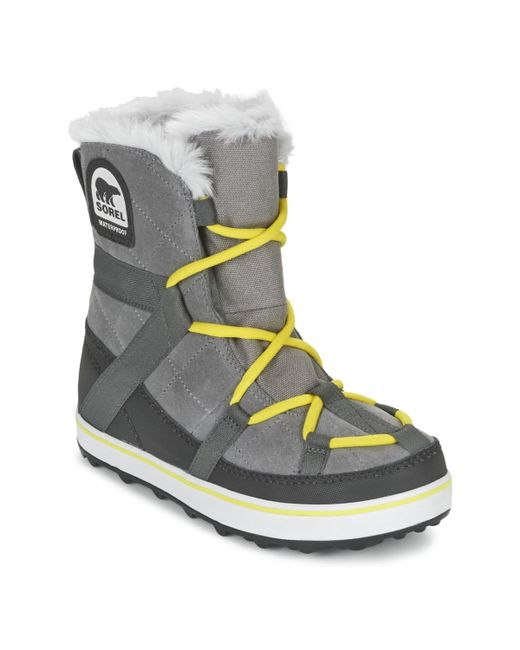 Sorel   Gray Glacy Explorer Shortie Women's Snow Boots In Grey   Lyst