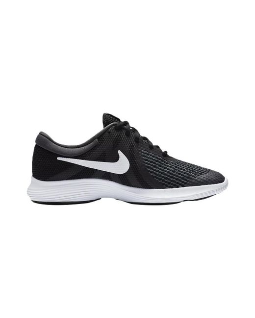 Nike - Revolution 4 Running Shoe Black Girls's In Black ...