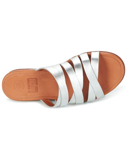 74e1582e5f90 ... Lyst Fitflop - Metallic Lumy Slide Women s Sandals In Silver ...