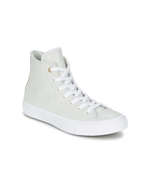 37a7bf7f8760 Lyst - Converse Chuck Taylor All Star Ii Craft Leather Hi Women s ...