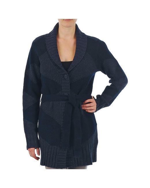 Gant - N.y. Diamond Shawl Collar Cardigan Women's In Blue for Men - Lyst