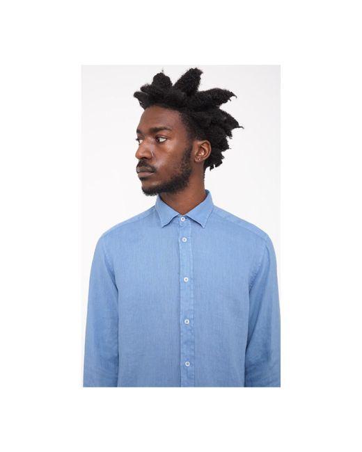B.D. Baggies   Bradford Linen Weave Shirt Blue Men's Long Sleeved Shirt In Blue for Men   Lyst