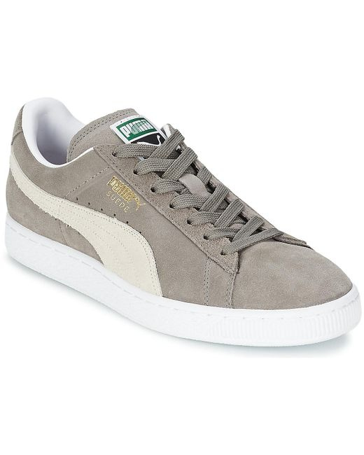 a3d841e9dd13 PUMA - Gray Suede Classic Men s Shoes (trainers) In Grey for Men - Lyst ...