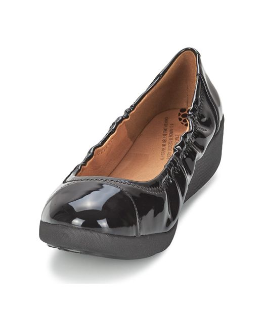 ce6377752cc6 ... Fitflop - F-pop Ballerina Patent Women s Shoes (pumps   Ballerinas) In  Black ...