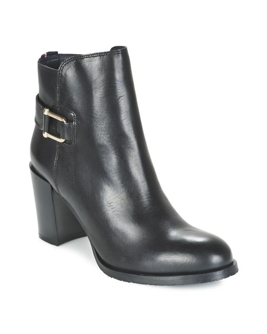 Tommy Hilfiger | Penelope 8a Women's Low Ankle Boots In Black | Lyst