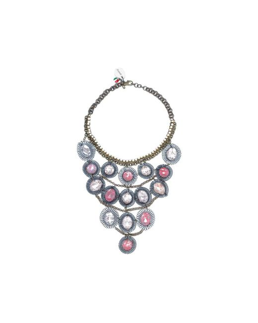 Sveva Collection | Collana Lunga Pietre Rosa Women's Necklace In Pink | Lyst