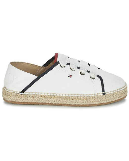 ... Tommy Hilfiger | Sammy 15 Women's Espadrilles / Casual Shoes In White  ...