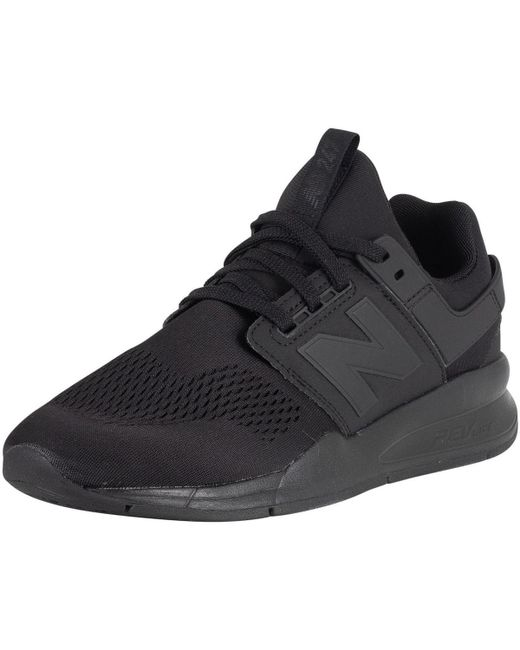 339bb1743a9d3 ... New Balance - Men's 247 Trainers, Black Men's Shoes (trainers) In Black  for ...