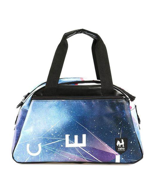 Vaho | Blue Check Duffle Bags Accessories Multicolor Men's Travel Bag In Multicolour for Men | Lyst