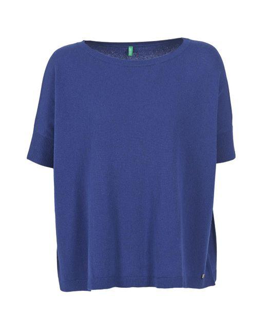 Benetton - Dilou Women's Sweater In Blue - Lyst
