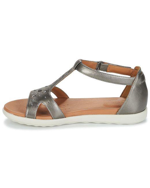 695a66d1128c19 ... Clarks - Metallic Un Reisel Mara Sandals - Lyst ...