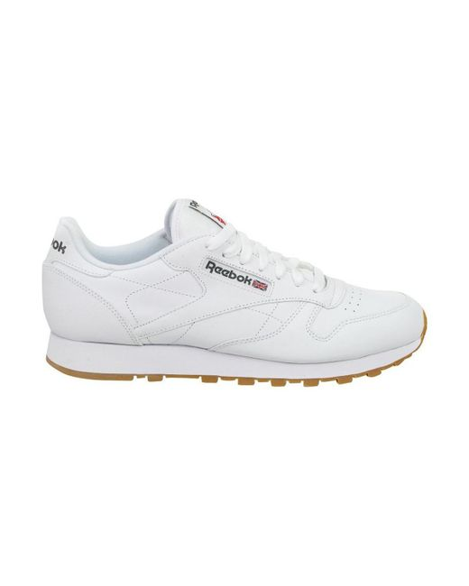 4e630526e9d Reebok Cl Lthr Men s Shoes (trainers) In White in White for Men - Lyst
