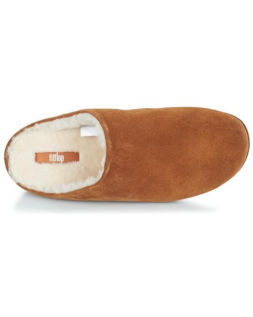 226567f84 ... Fitflop - Brown Chrissie Shearling Flip Flops - Lyst ...