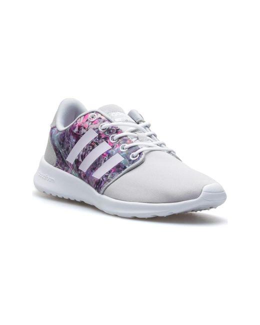 adidas cloudfoam racer qt ladies trainers grey