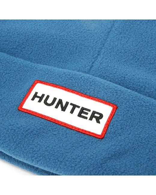 47d053549f60bf ... Hunter - Ocean Blue Original Fleece Hat Women's Beanie In Blue - Lyst