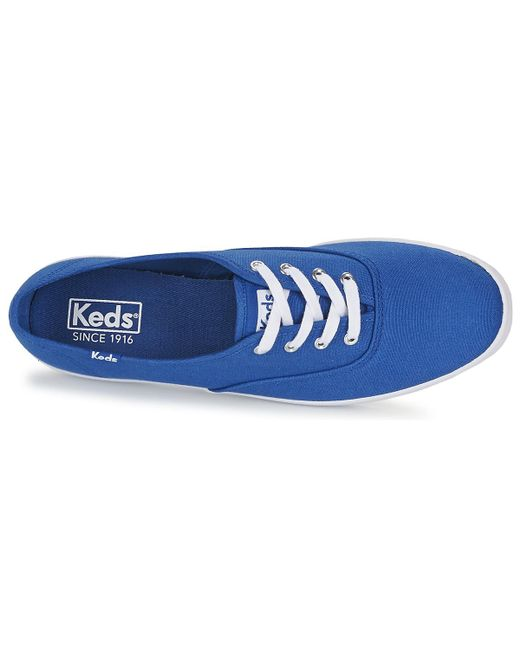 b70d10a7a49 ... Lyst Keds - Champion Seasonal Solids Women s Shoes (trainers) In Blue  ...
