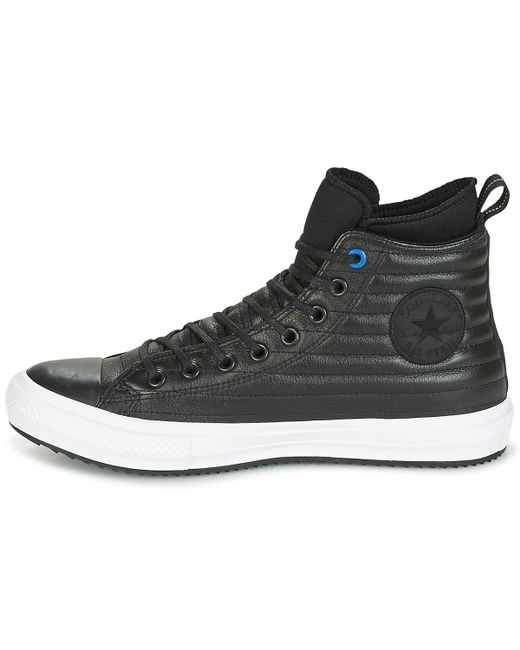 ... Converse - Chuck Taylor Wp Boot Quilted Leather Hi Black blue Jay white  Shoes ... 303b069c4