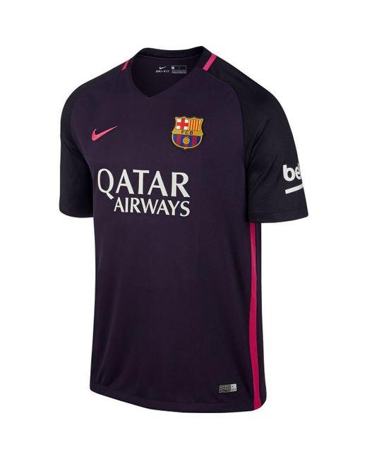 1001d2e629c Nike - 2016-17 Barcelona With Sponsor Away Shirt - (kids) (pique ...