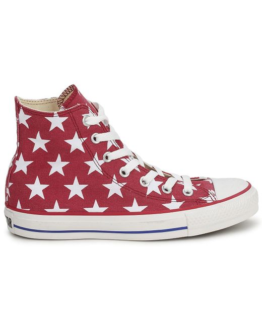 01d1b374b405 ... Converse - All Star Big Star Print Hi Women s Shoes (high-top Trainers)  ...