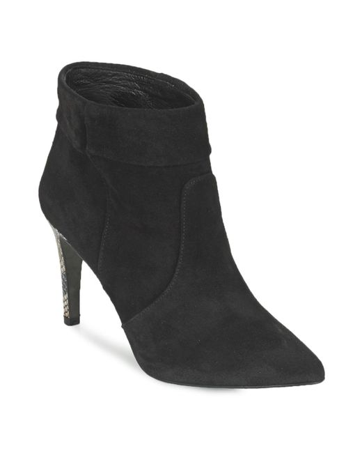 IKKS - Miranda Talon Python Women's Low Ankle Boots In Black - Lyst