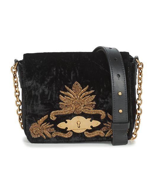 faef062a00 Polo Ralph Lauren - Velvet W Bullion Chain Crossbody Women s Shoulder Bag  In Black for Men ...