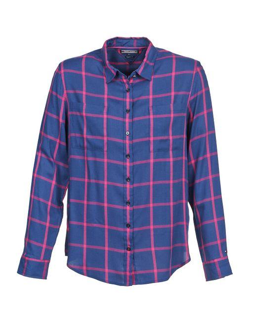 Tommy Hilfiger - Brenda Women's Shirt In Blue - Lyst