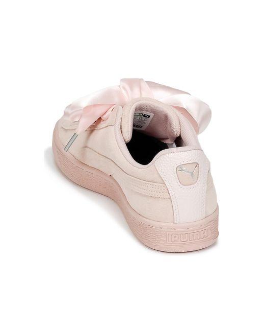 Bubble Puma Women's Pink Suede trainers W's Heart Shoes In wwqO6ZaE