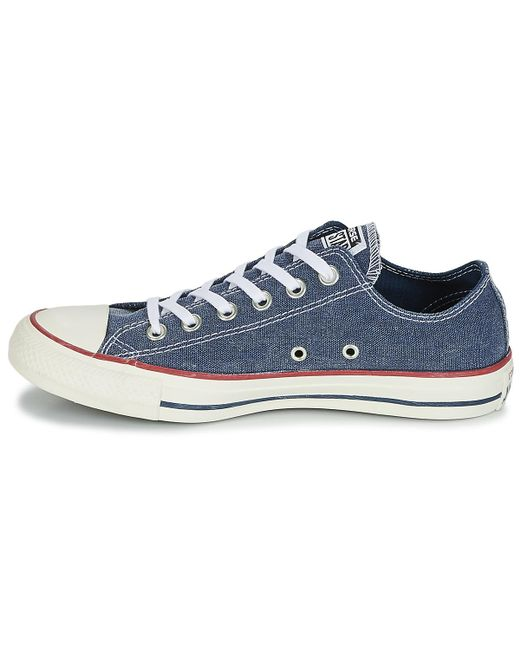 da9cfc601b96 ... Converse - Chuck Taylor All Star Ox Stone Wash Men s Shoes (trainers)  In Blue ...