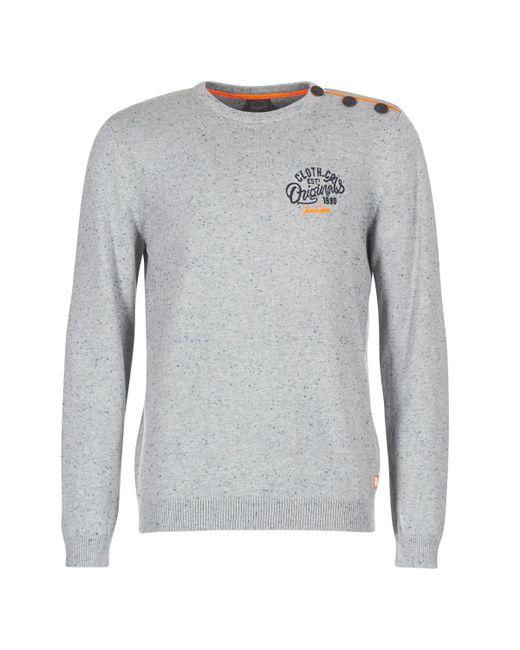 Jack & Jones - Gray Jortrast Men's Sweater In Grey for Men - Lyst