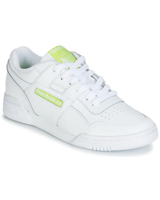 Reebok - Workout Plus Mu Men s Shoes (trainers) In White for Men - Lyst ... 1ba97ddb4