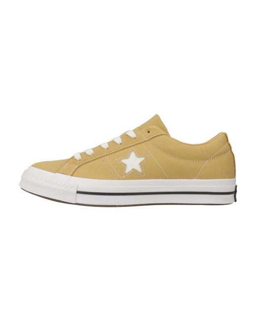 abee6d2b043 Converse One Star Ox Women s Shoes (trainers) In Yellow in Yellow - Lyst