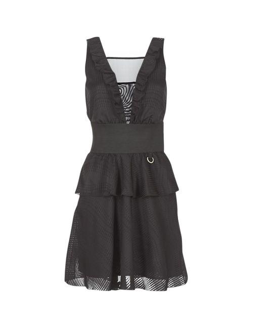 Versace Jeans - D2hra446 Women's Dress In Black - Lyst