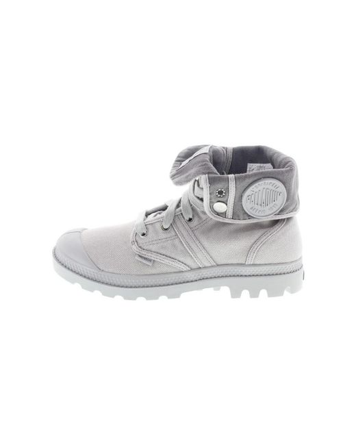 Palladium - Gray Lady Pallabrouse Baggy Women's Walking Boots In Grey - Lyst
