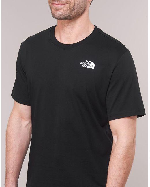 e371b1431 The North Face Men's S/s Redbox Tee Men's T Shirt In Black in Black ...