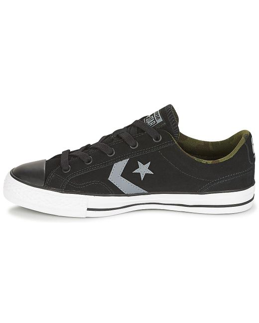 Converse  Star Player Ox Camo Suede Men's Shoes trainers In Black  for Men